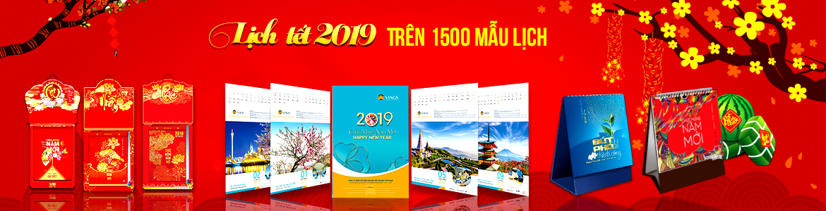 In lịch tết 2019